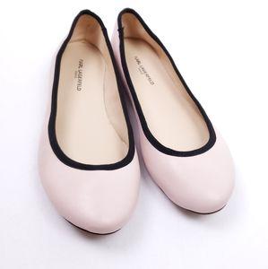 KARL LAGERFELD Leroux Flats Pink Black
